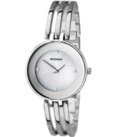 2303  31mm Silver ladies watch with steel bracelet