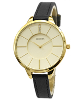 4017  38mm Trendy Gold Ladies Watch