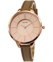 4018  38mm Trendy Rose Gold Ladies Watch