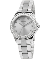 4250  33mm Silver ladies watch with Crystals