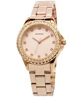 4253  33mm Rose Gold ladies watch with Crystals