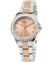 4254  33mm Bicolor Rose ladies watch with Crystals