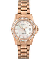 4618  Rose Gold ladies watch with Crystals