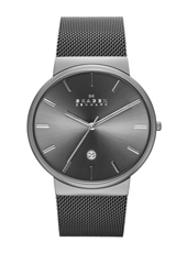 SKW6108 Ancher Large 40mm Steel mens watch with Milanese strap