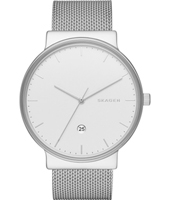 SKW6290 Ancher Large 40mm Silver milanese watch with date