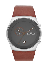 SKW6085 Havene XLarge 42mm Grey Gents Chronograph with Brown Strap