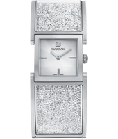 5027134 Crystalline Bangle 23mm Silver Square Watch with Crystals