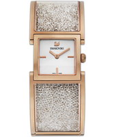 5027138 Crystalline Bangle 23mm Rose Gold Square Watch with Crystals