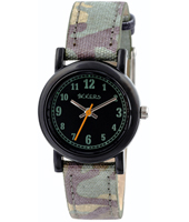 TK0105 Camouflage Black kids watch with camouflage strap