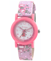 TK0099 Flower Girl Pink kids watch with textile strap
