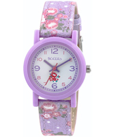 TK0103 Flower Girl Purple kids watch with textile strap