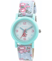 TK0104 Flower Girl Turquoise kids watch with textile strap