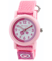 TK0112 Scratch Pink kids watch with textile strap
