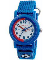 TK0113 Scratch Blue kids watch with textile strap